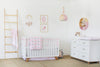 Curated Nest: Nurseries and Design - Dreaming in Pink Printed Crib Sheet - Crib Sheet