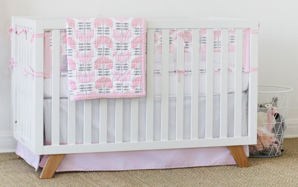 Curated Nest: Nurseries and Design - Dreaming in Pink 3-Piece Crib Set - Crib Sheet