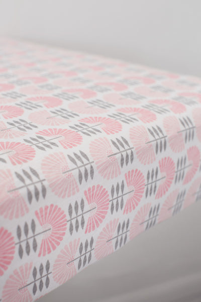 Dreaming in Pink Luxury Jersey Crib Sheet