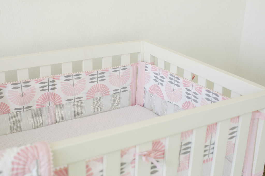 Curated Nest: Nurseries and Design - Dreaming in Pink Mesh Bumper - Bumper