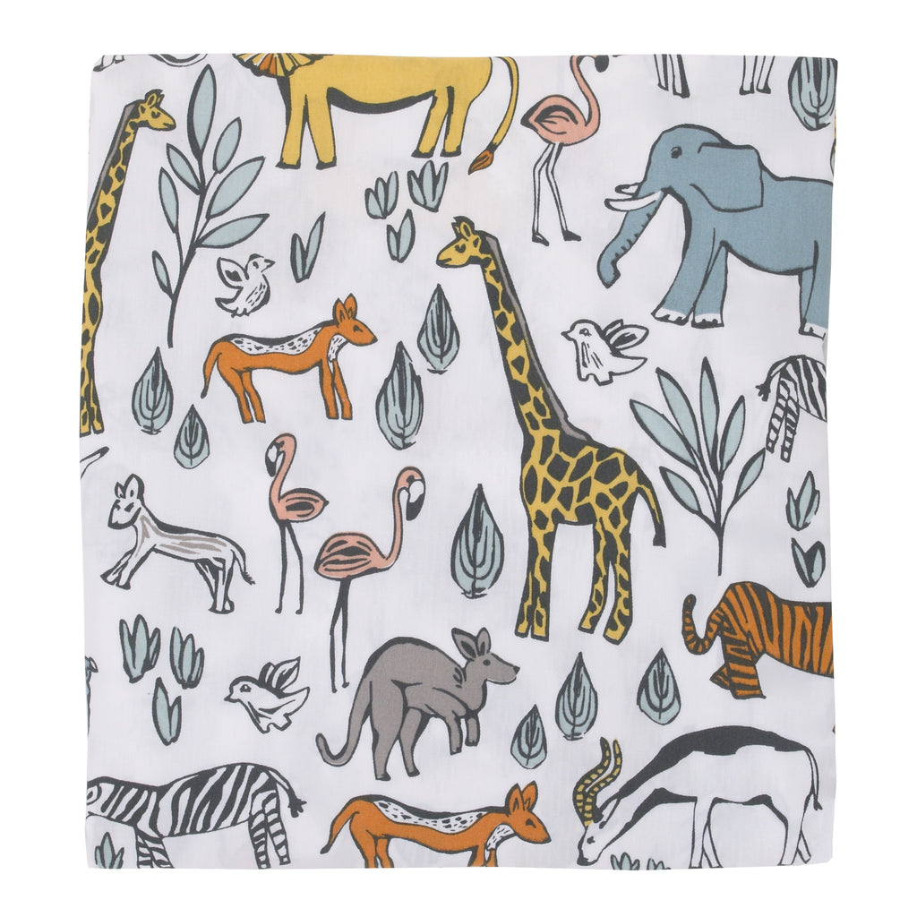 Curated Nest: Nurseries and Design - Safari Crib Sheet - Crib Sheet