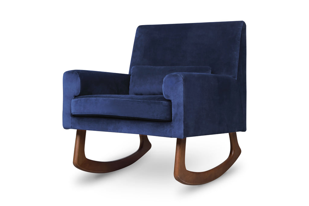 Sleepytime Rocker in Navy Blue Velvet