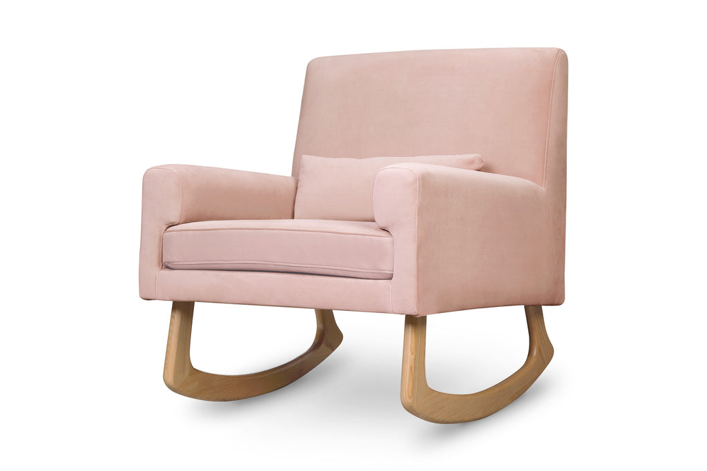 Sleepytime Rocker in Blush Velvet