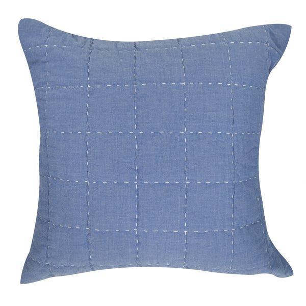 Boxquilt Blue Pillow