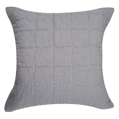 Boxquilt Gray Pillow