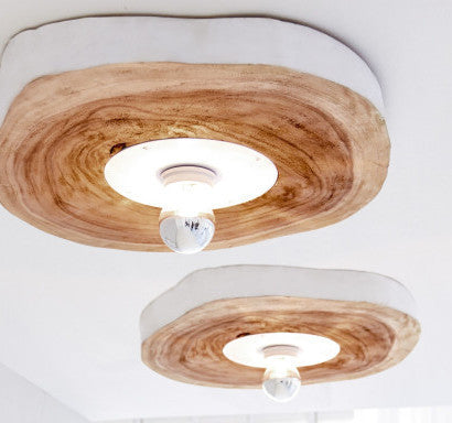 Curated Nest. Custom Design Baby Nursery Room. Products. Lighting. Burled Wood Ceiling Mount Light.