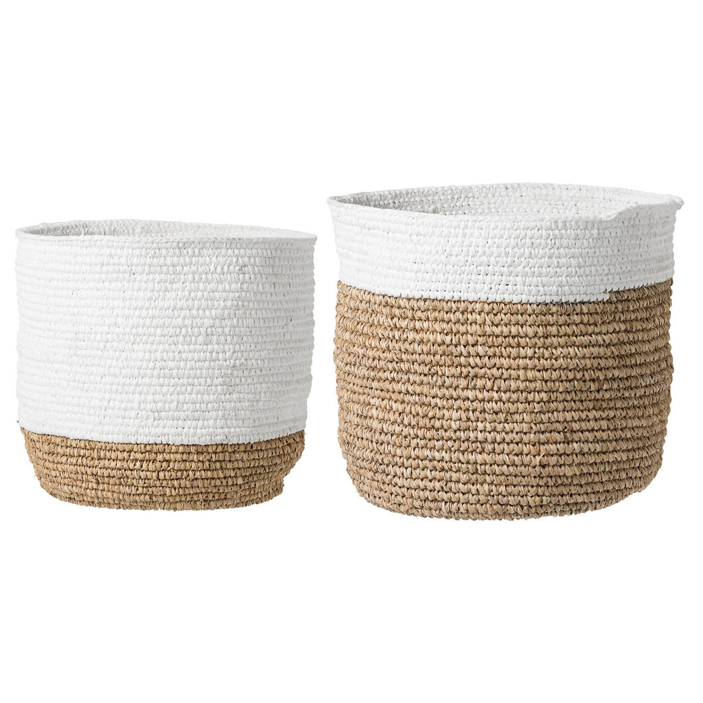 Curated Nest: Nurseries and Design - Banana Leaf Baskets - White - Storage