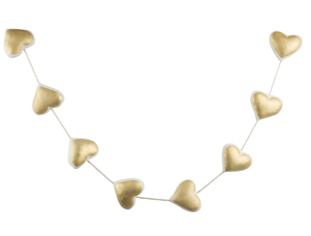 Curated Nest: Nurseries and Design - Golden Hearts Garland - wall decor