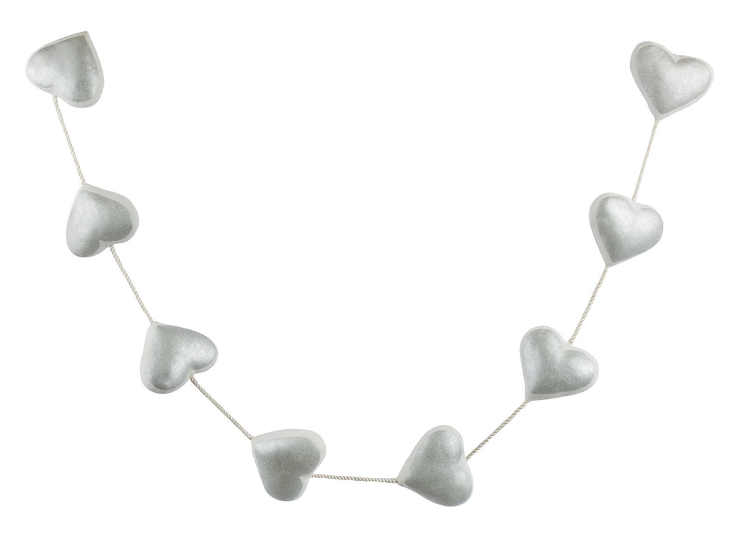 Curated Nest: Nurseries and Design - Silver Hearts Garland - wall decor