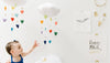 Curated Nest: Nurseries and Design - Luxe Cascading Cloud Mobile with Bright Hearts - Accessories