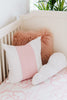 Curated Nest: Nurseries and Design - Oilo Band Pillow - Blush - pillow