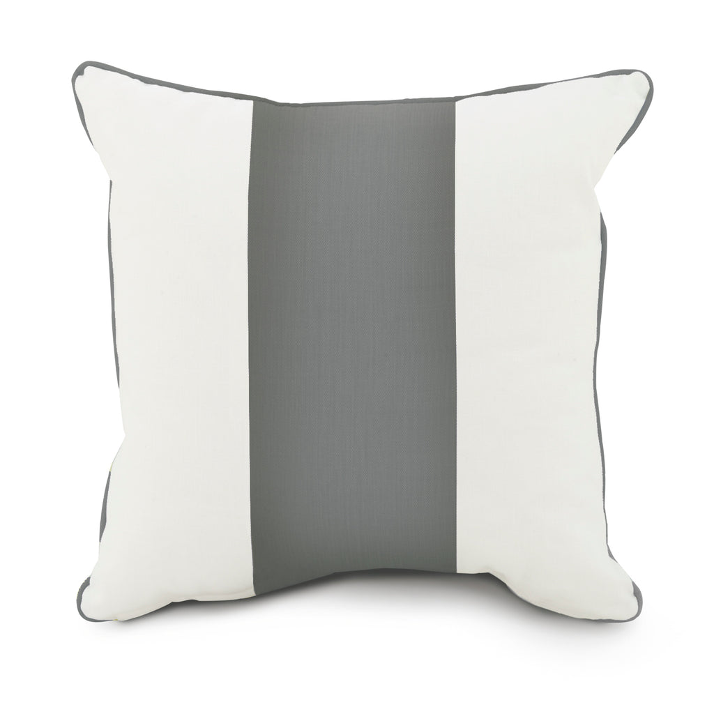 Curated Nest: Nurseries and Design - Oilo Band Pillow - Stone Grey - pillow