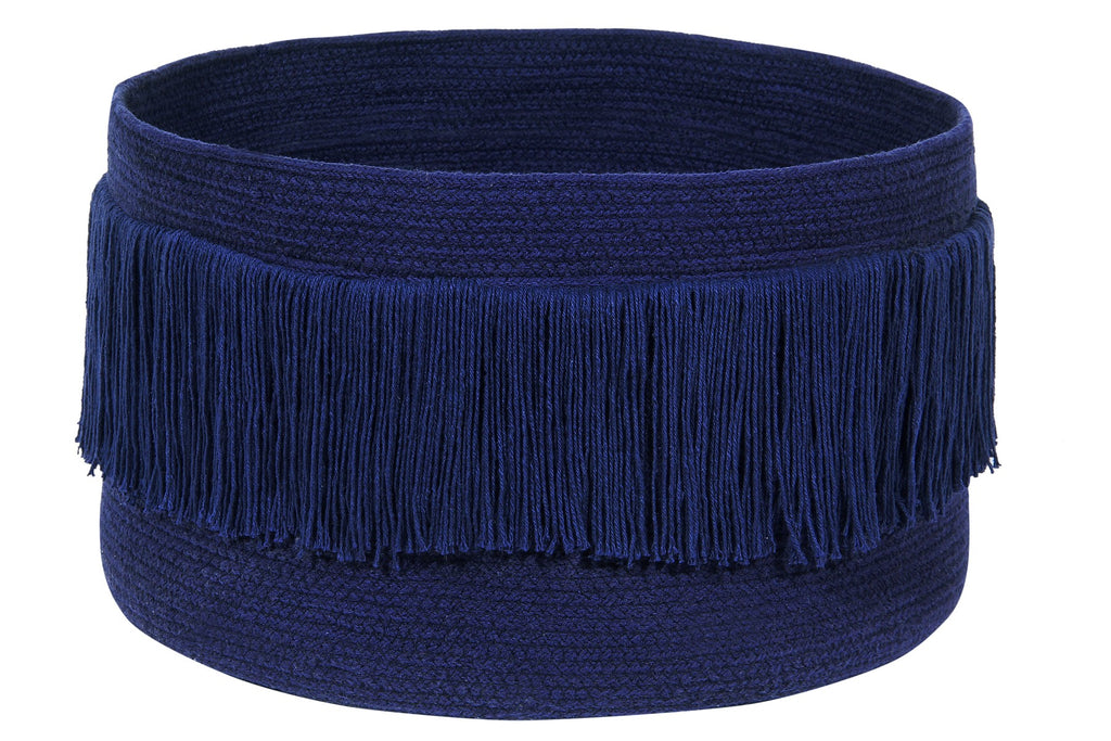 Curated Nest: Nurseries and Design - Fringe Basket - Alaska Blue - Storage