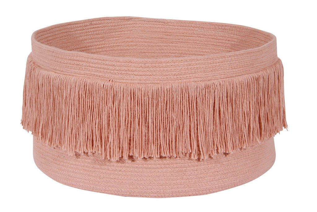 Curated Nest: Nurseries and Design - Fringe Basket - Sahara Nude - Storage