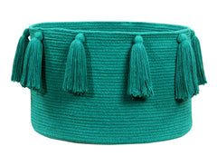 Tassels Basket - Emerald