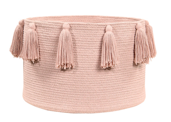 Curated Nest: Nurseries and Design - Tassels Basket - Vintage Nude - Storage