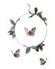 Curated Nest: Nurseries and Design - Butterfly Luxe Mobile - Blush, Silver & Green - Accessories