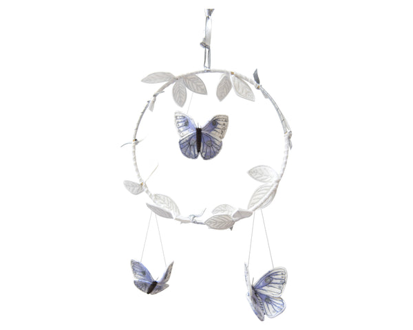 Curated Nest: Nurseries and Design - Butterfly Luxe Mobile - Silver & Lilac - Accessories