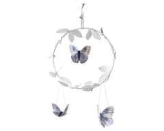 Butterfly Luxe Mobile - Silver & Lilac