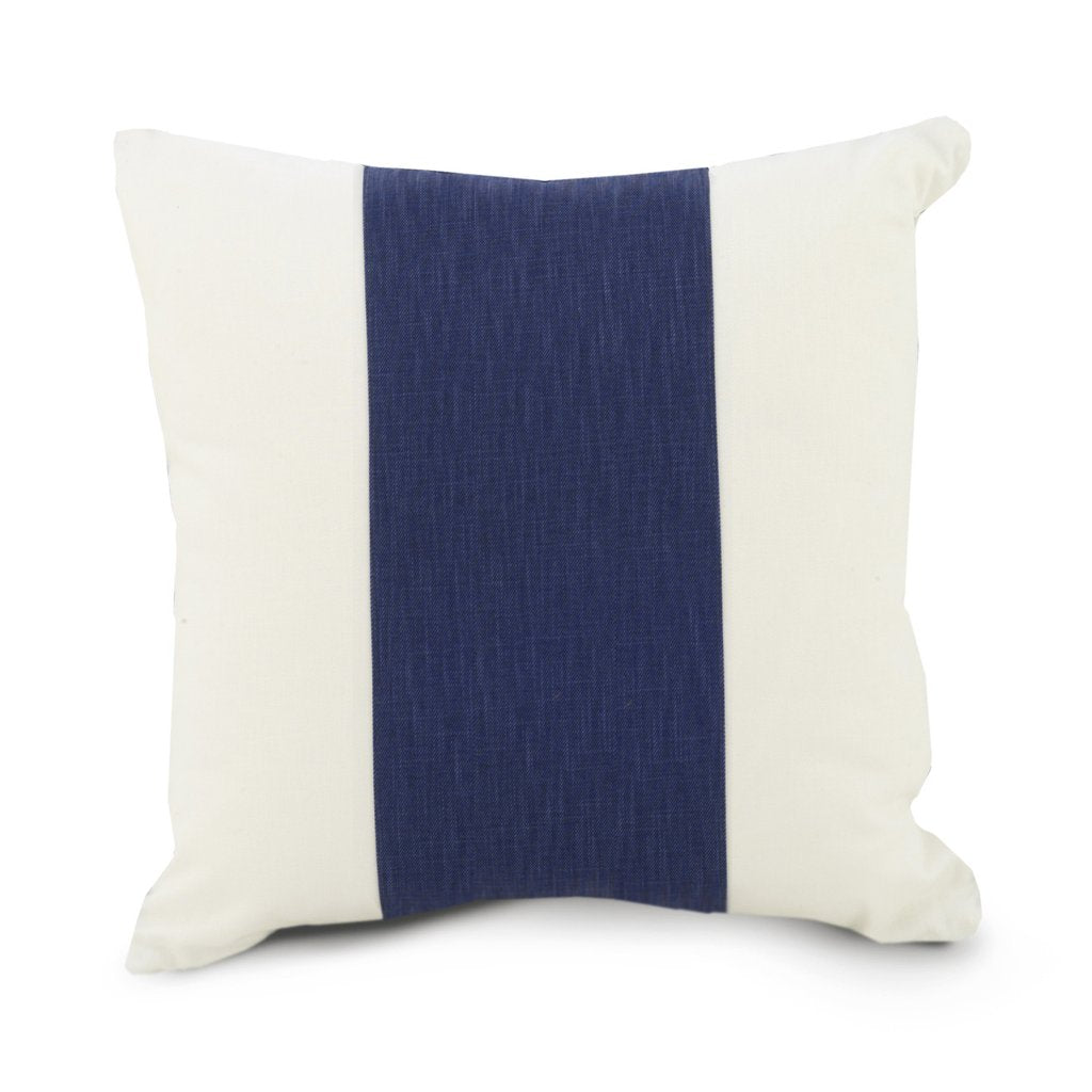 Curated Nest: Nurseries and Design - Oilo Band Pillow - Cobalt - pillow
