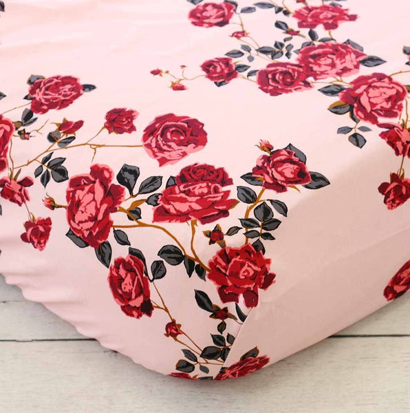 Curated Nest: Nurseries and Design - Belle's Rose Crib Sheet - Crib Sheet