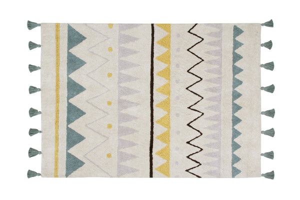 Curated Nest. Custom Design Baby Nursery Room. Products. Rugs. Azteca Rug - Teal.