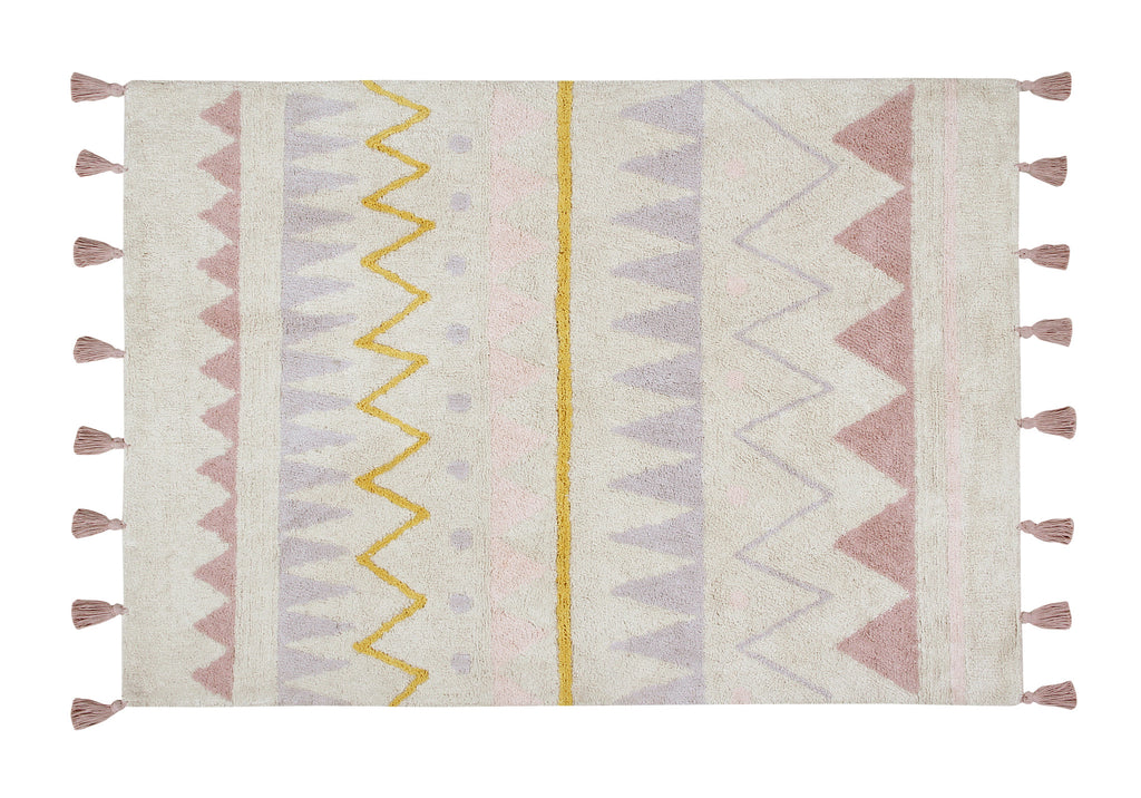 Curated Nest. Custom Design Baby Nursery Room. Products. Rugs. Azteca Rug - Vintage Blush.