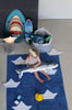 Washable Origami Boats Rug