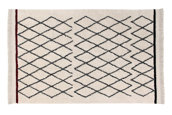 Curated Nest: Nurseries and Design - Bereber Crisscross Washable Rug - Rug