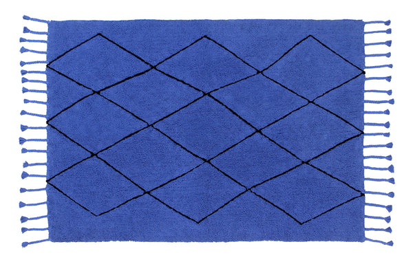 Washable Bereber Rug - Klein Blue