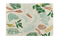 Botanic Plants Washable Rug