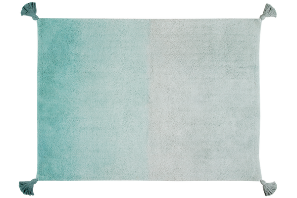 Washable Emerald Ombre Rug