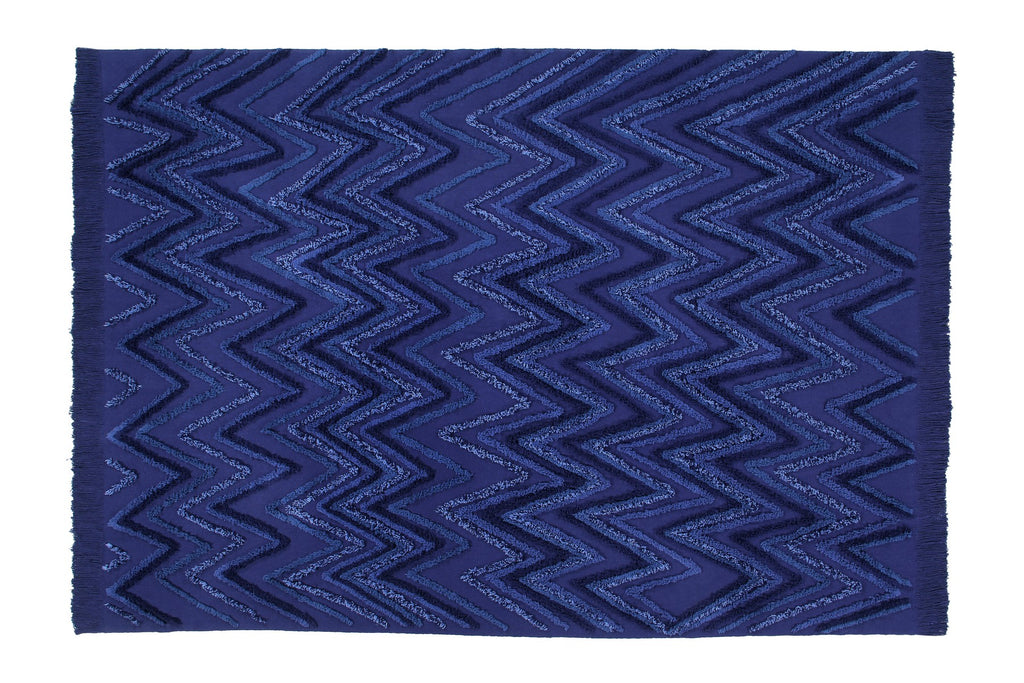 Curated Nest: Nurseries and Design - Earth Washable Rug - Alaska Blue - Rug