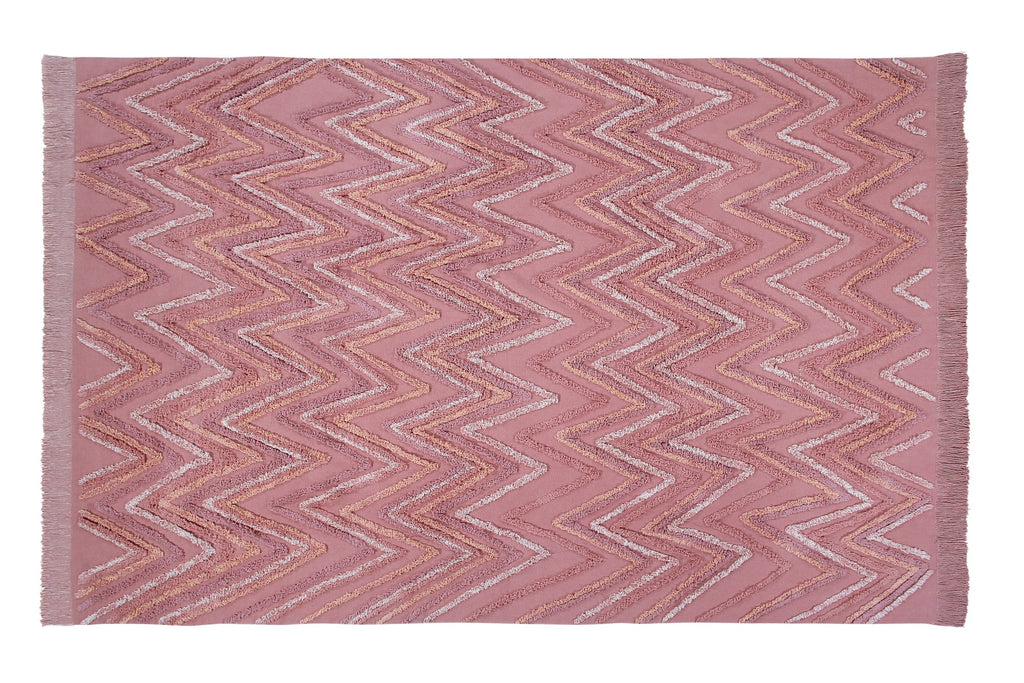 Curated Nest: Nurseries and Design - Earth Washable Rug - Canyon Rose - Rug