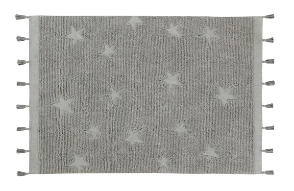 Curated Nest: Nurseries and Design - Hippy Stars Washable Rug - Grey - Rug