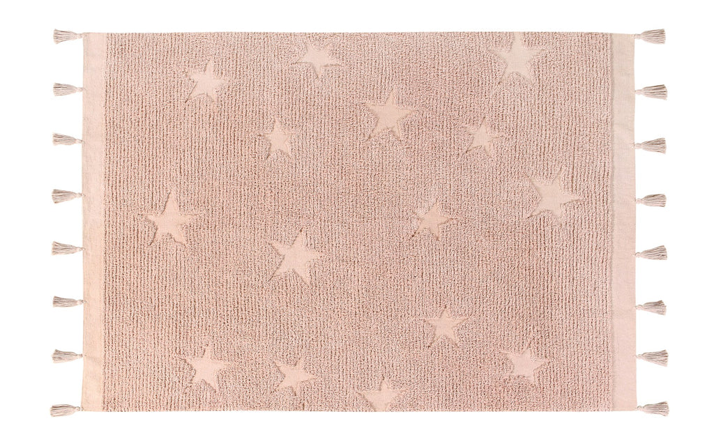 Curated Nest: Nurseries and Design - Hippy Stars Washable Rug - Vintage Nude - Rug