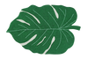 Curated Nest: Nurseries and Design - Monstera Leaf Washable Rug - Rug