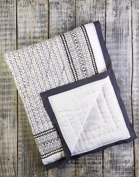 Curated Nest: Nurseries and Design - Greenwich Natural Cotton Handmade Quilt - Blanket