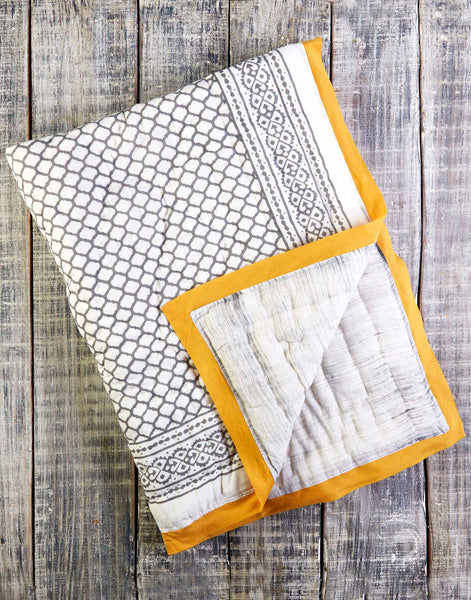 Curated Nest: Nurseries and Design - Erawan Natural Cotton Handmade Quilt - Blanket