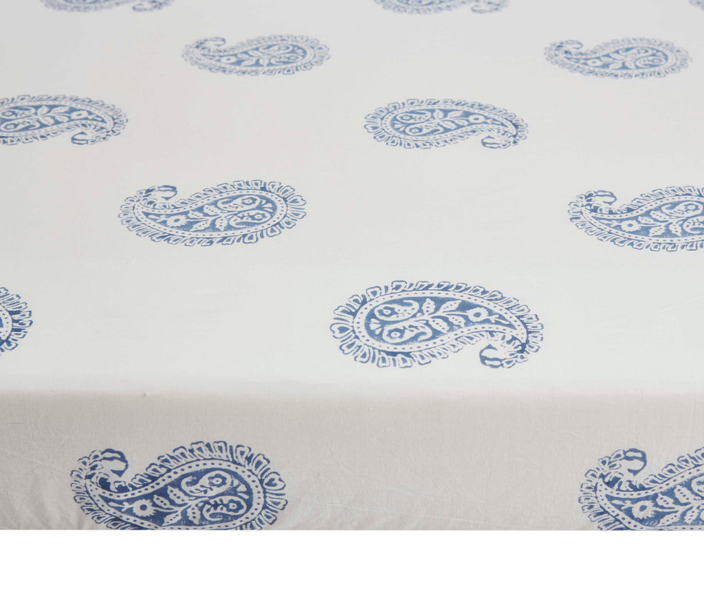 Curated Nest: Nurseries and Design - Indigo Paisley Crib Sheet - Crib Sheet