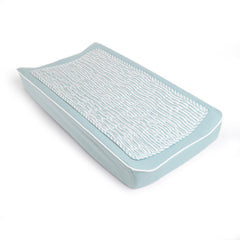 Oilo Stripes Aqua Changing Pad Cover and Topper
