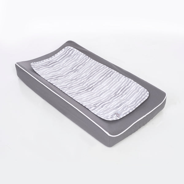 Oilo Stone Grey Changing Pad Cover and Topper