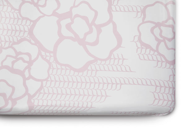 Curated Nest. Custom Design Baby Nursery Room. Products. Bedding. Blush Capri Crib Sheet.