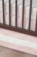 Blush Band Crib Skirt
