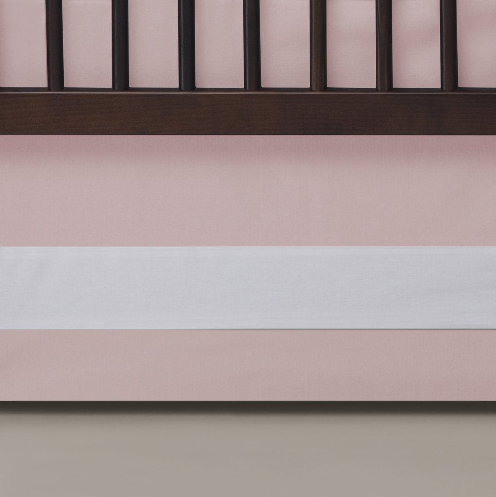 Curated Nest: Nurseries and Design - Oilo Blush Band Crib Skirt - Crib Skirt