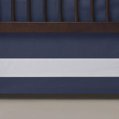 Oilo Indigo Band Crib Skirt