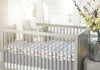 Curated Nest: Nurseries and Design - Oilo Stone Grey Band Crib Skirt - Crib Skirt