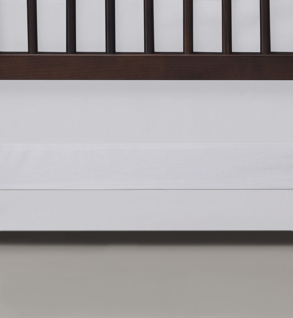Curated Nest: Nurseries and Design - Oilo White Band Crib Skirt - Crib Skirt
