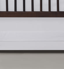Oilo White Band Crib Skirt