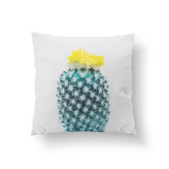 Yellow Cactus Pillow